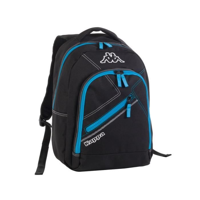 kappa sac dos ski classic enfant noir et bleu achat. Black Bedroom Furniture Sets. Home Design Ideas