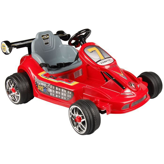 QUAD - KART - BUGGY TENDANCE DESIGN Mini Kart Electrique Enfant Rouge