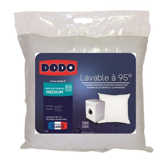 Dodo oreiller lavable 95 c 60x60 cm blanc achat vente oreiller les so - Oreiller dodo vegetal 60x60 ...