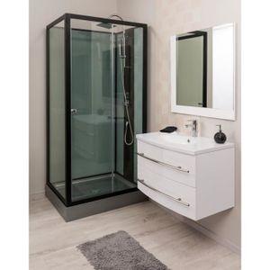 MEUBLE VASQUE - PLAN LEA Ensemble meuble de salle de bain 80cm - Blanc