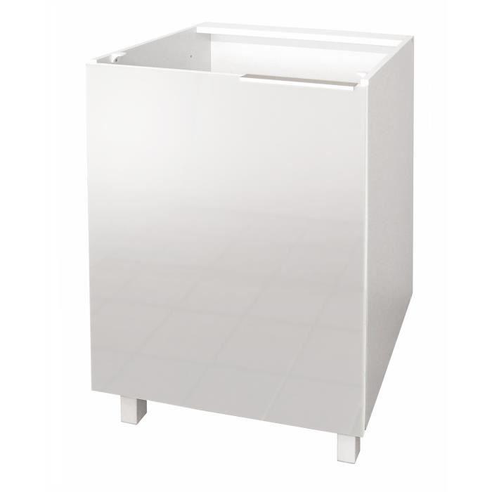pop caisson bas de cuisine 60 cm blanc super mat achat vente elements bas caisson porte. Black Bedroom Furniture Sets. Home Design Ideas