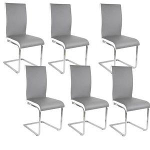 Chaises achat vente chaises pas cher soldes cdiscount for Chaise bjorn grise