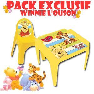 table chaise plastique winnie l 39 ourson achat vente table et chaise table chaise. Black Bedroom Furniture Sets. Home Design Ideas