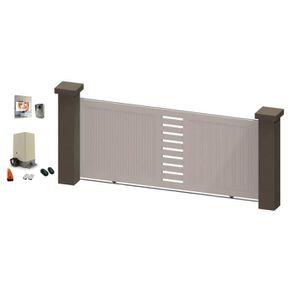 Portail coulissant avec portillon achat vente portail for Portillon blanc pvc