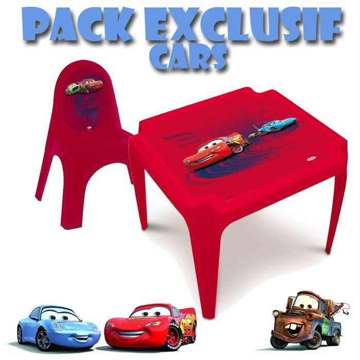 table chaise plastique cars achat vente table et chaise table chaise cars cdiscount. Black Bedroom Furniture Sets. Home Design Ideas