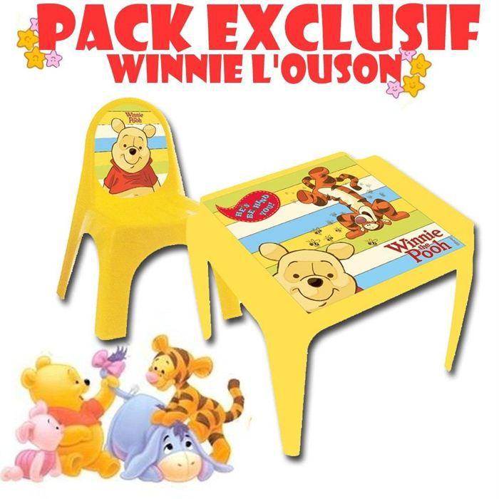 Table chaise plastique winnie l 39 ourson achat vente - Table et chaise winnie l ourson ...