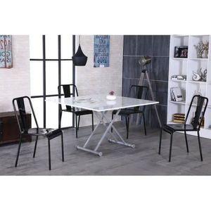 table relevable extensible grazia noir