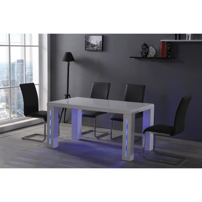 Milwaukee table manger avec clairage led 150x85cm laqu - Table a manger led ...