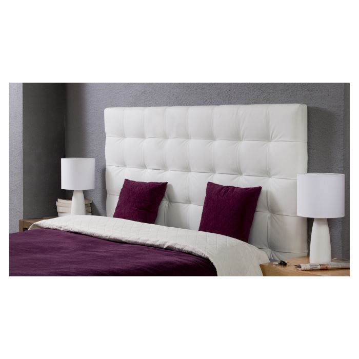 tete de lit blanc pas cher tete lit blanc sur enperdresonlapin. Black Bedroom Furniture Sets. Home Design Ideas
