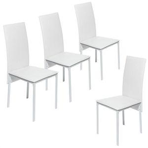 CHAISE Lot de 4 chaises de salle à manger LINDSAY