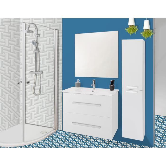 Nuevo salle de bain compl te simple vasque laqu blanc achat vente salle de bain complete - Prix salle de bain complete ...