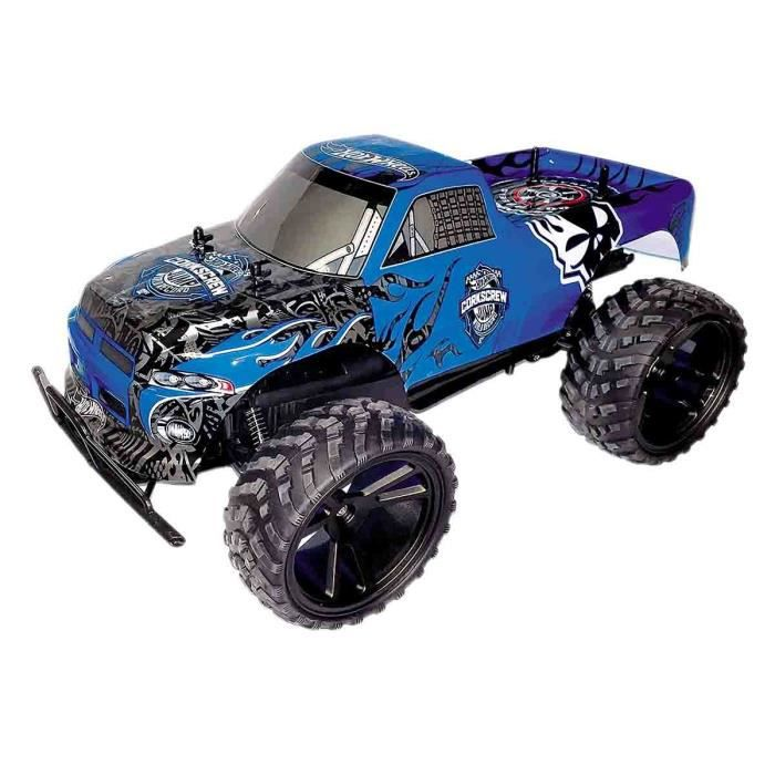 hot wheels voiture radiocommand e monster truck 1 8 bleue achat vente voiture camion. Black Bedroom Furniture Sets. Home Design Ideas