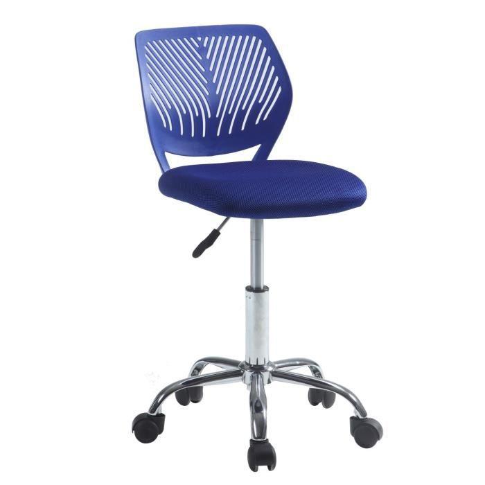 fauteuil de bureau pivotant r glable alpha bleu achat vente fauteuil bleu plastique r sine. Black Bedroom Furniture Sets. Home Design Ideas