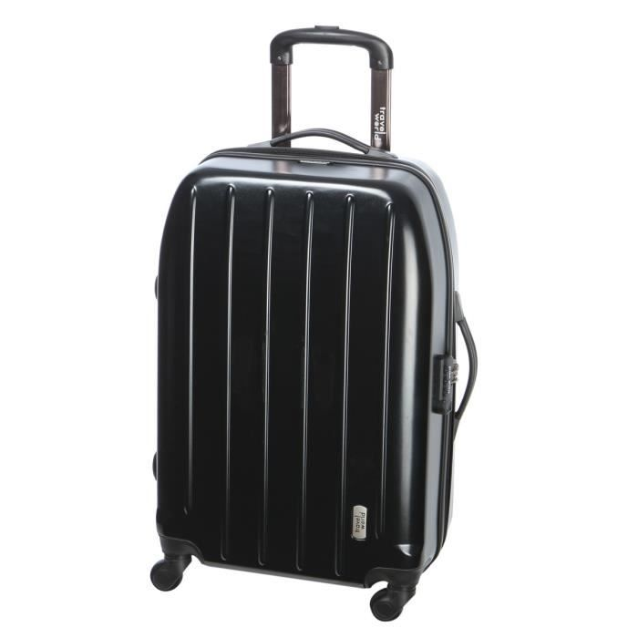 travel world valise trolley 4 roues 60 cm noir achat vente valise bagage travel world. Black Bedroom Furniture Sets. Home Design Ideas