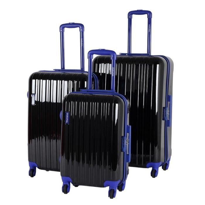 murano set 3 valises 4 roues noir achat vente set de valises 3700766351442 cdiscount. Black Bedroom Furniture Sets. Home Design Ideas