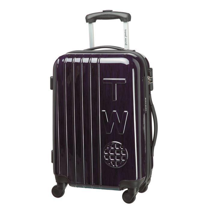 travel world valise cabine 4 roues 50cm violet achat vente valise bagage 3700766305360. Black Bedroom Furniture Sets. Home Design Ideas