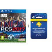 JEU PS4 PES 2017 Jeu PS4 + Abonnement PlayStation Plus 3 m