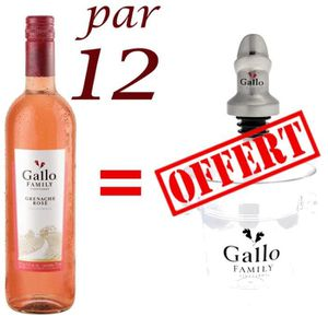 Gallo Family Grenache Rosé Californie vin rosé x12