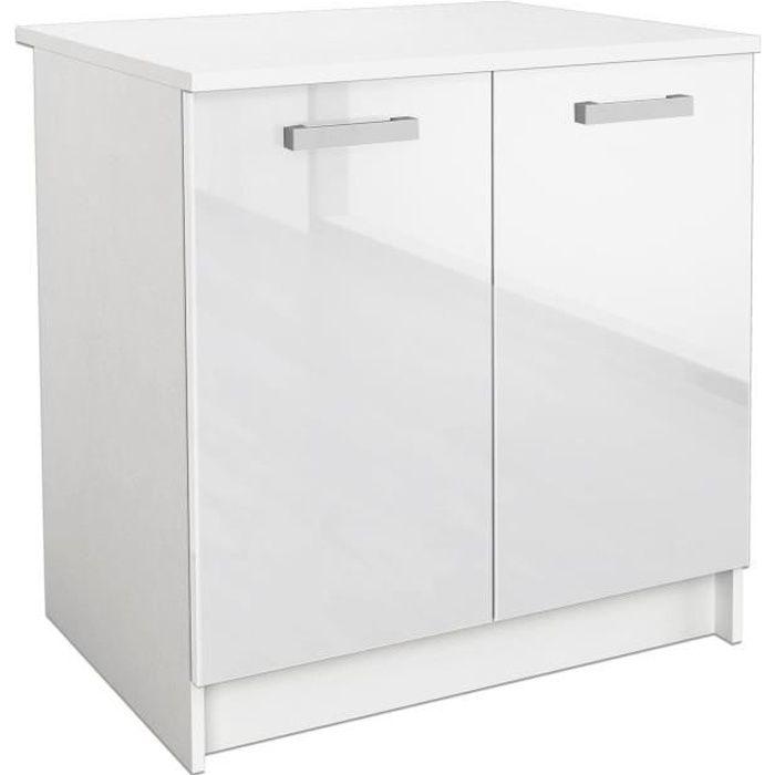 Start meuble bas de cuisine 80 cm avec plan de travail for Plan de travail cuisine profondeur 80 cm