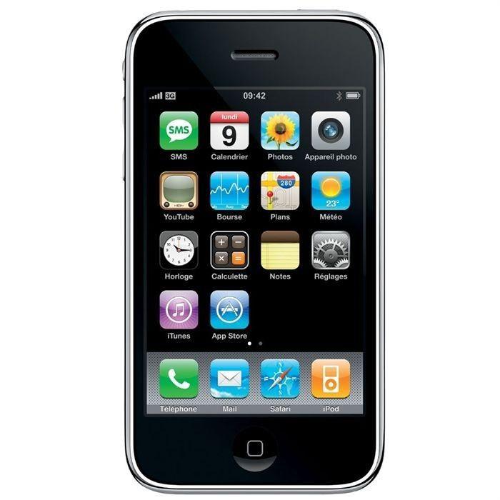 iphone 3gs 8go noir tout op rateur achat smartphone pas cher avis et meilleur prix cdiscount. Black Bedroom Furniture Sets. Home Design Ideas