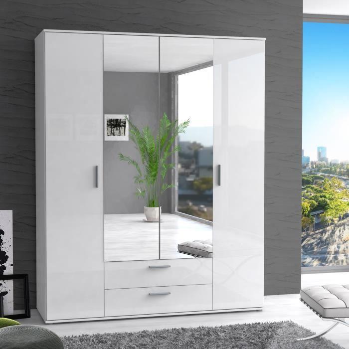 Finlandek armoire de chambre selke contemporain blanc for Armoire chambre design contemporain