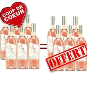 VIN ROSÉ 6 achetées = 12 livrées Fleurs de Cerisier IGP Oc