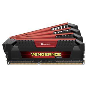 MÉMOIRE RAM Corsair 32Go DDR3 1600MHz C9 Vengeance Red