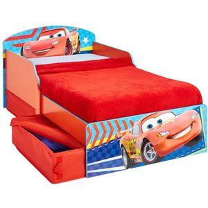 STRUCTURE DE LIT CARS Lit Enfant en bois 70*140 cm avec Tiroirs de