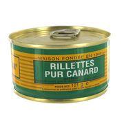 PATÉ - TERRINE Rillettes pur canard 121g Lou Gascoun