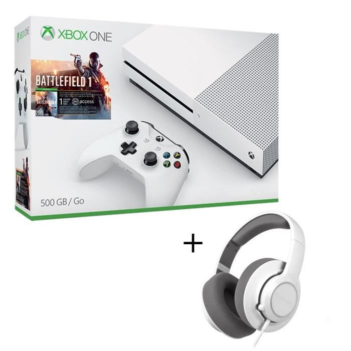 pack xbox one s 500go battlefield 1 casque gaming steelseries siberia raw achat vente. Black Bedroom Furniture Sets. Home Design Ideas