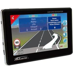 "GPS AUTO TAKARA Navigateur GPS Ecran 5"" - Carte à vie"