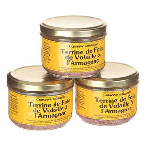PATÉ - TERRINE LES CONSERVES DU GASCON Lot de 3 Terrines de Foie