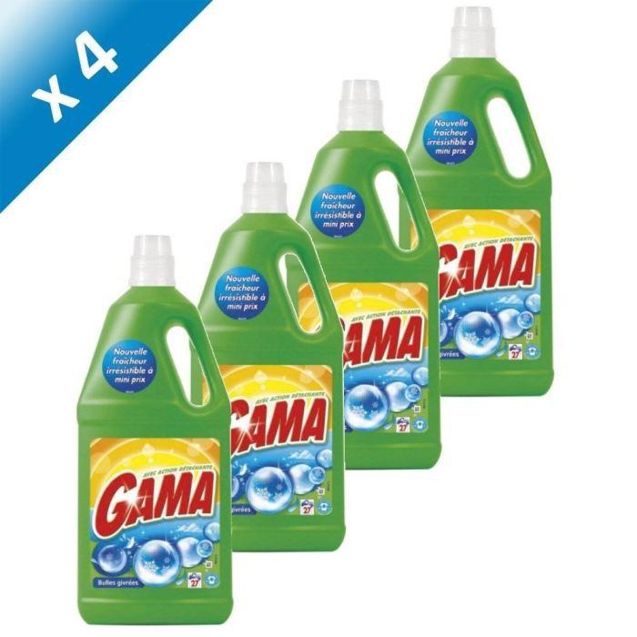 Gama lessive liquide bulles givr es 1 97l x4 achat for Lessive en poudre ou liquide