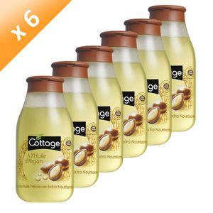 GEL - CRÈME DOUCHE COTTAGE Douche Huile d'Argan 250 ml (x6)