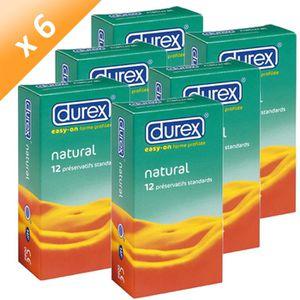 TOILETTE INTIME DUREX Préservatifs Natural Boîtes de 24 (x6)