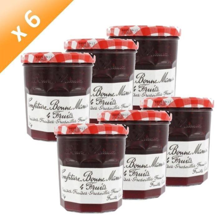 Bonne maman confiture 4 fruits 370g x6 achat vente confiture marmelade pcb6 bonne m - Mini pot de confiture bonne maman ...