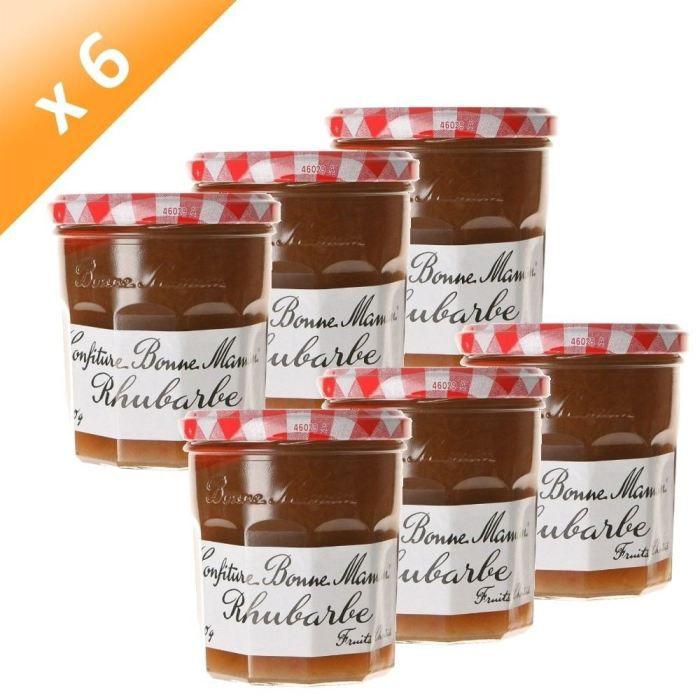 Bonne maman confiture rhubarbe 370g x6 achat vente confiture marmelade pcb6 bonne m - Mini pot de confiture bonne maman ...