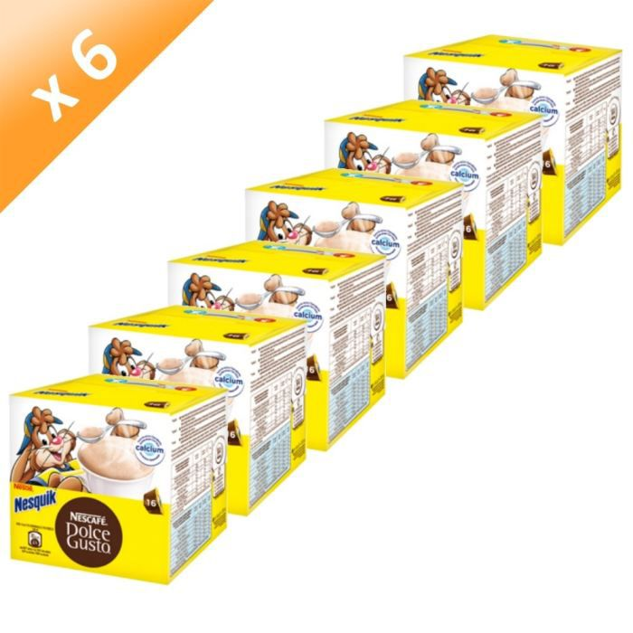 CACAO - CHOCOLAT DOLCE GUSTO Nesquik 16 Capsules 256g (x6)