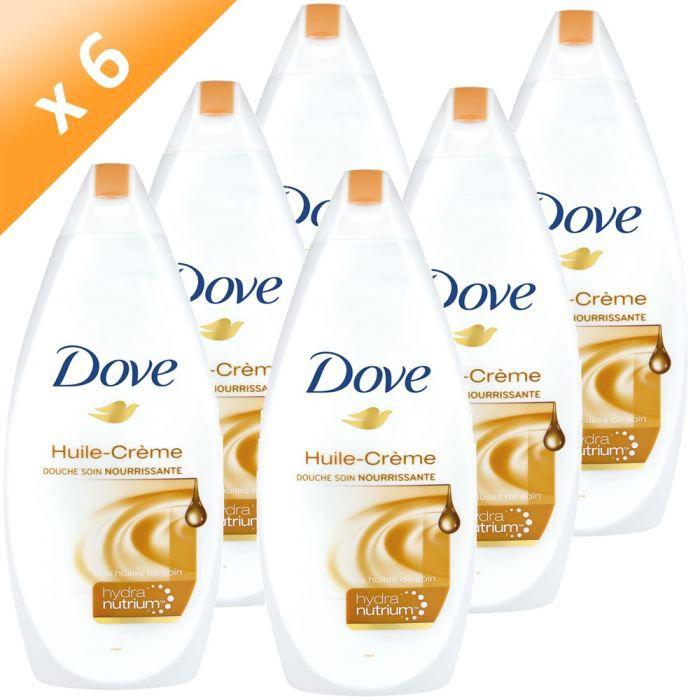 GEL - CRÈME DOUCHE DOVE Douche Huile Crème Soin 400ml (x6)