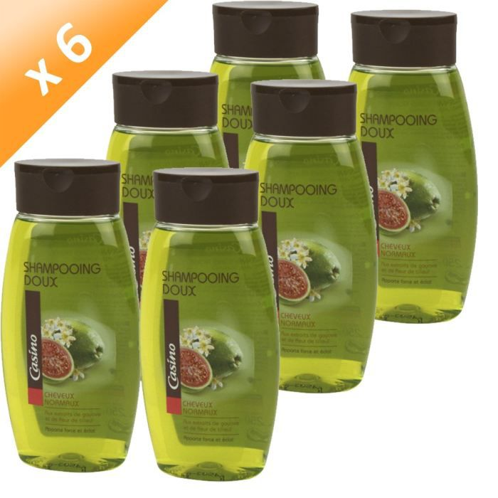 SHAMPOING CASINO Shampoing Doux Cheveux Normaux 250ml (x6)