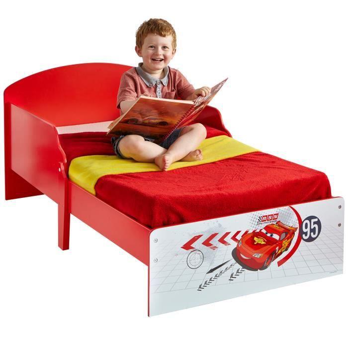 cars lit enfant en bois 70 140 cm worlds appart achat vente structure de lit cdiscount. Black Bedroom Furniture Sets. Home Design Ideas