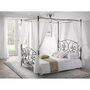 lit baldaquin achat vente lit baldaquin pas cher les soldes sur cdiscount cdiscount. Black Bedroom Furniture Sets. Home Design Ideas