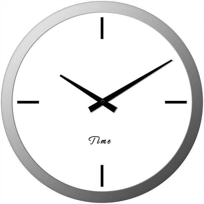 Moderne horloge murale en verre d30 cm achat vente for Horloge murale verre