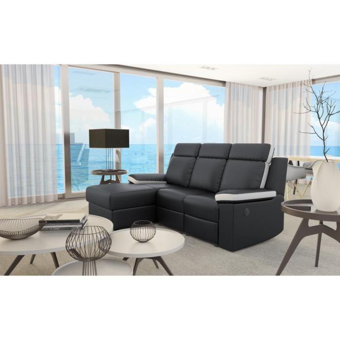 zen canap d 39 angle de relaxation lectrique 3 places. Black Bedroom Furniture Sets. Home Design Ideas