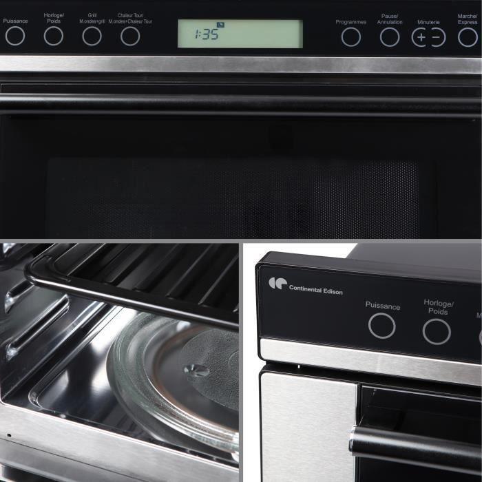 continental edison cemo34ceb micro ondes combin 34l. Black Bedroom Furniture Sets. Home Design Ideas