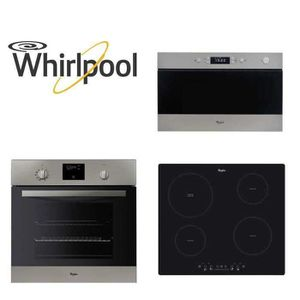pack whirlpool encastrable four micro ondes plaque achat vente lot appareil cuisson cdiscount. Black Bedroom Furniture Sets. Home Design Ideas