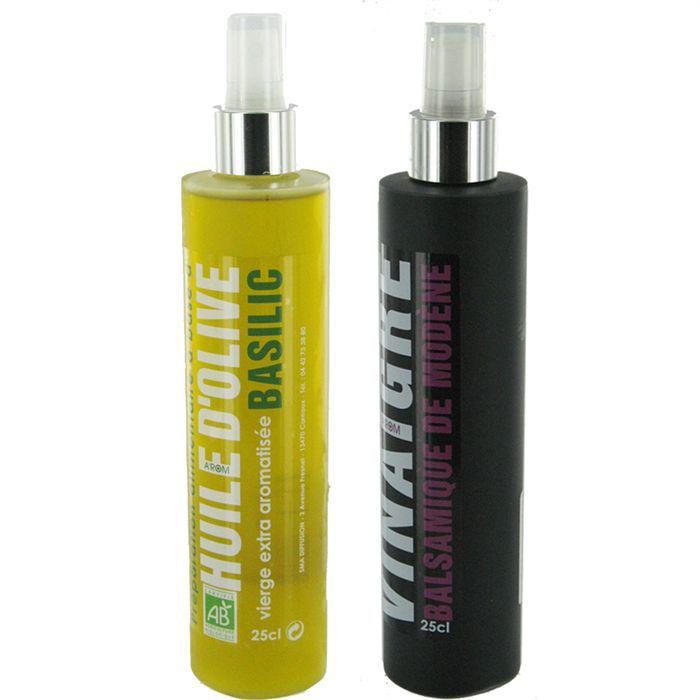 Spray huile d 39 olive bio vinaigre balsamique x3 achat vente huile pack spray huile et - Huile et vinaigre ...