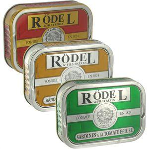 PRODUIT DE SARDINE Lot 3 Conserves de Sardines Rödel