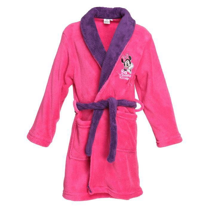 minnie robe de chambre enfant fille rose et violet achat vente pyjama chemise de nuit. Black Bedroom Furniture Sets. Home Design Ideas