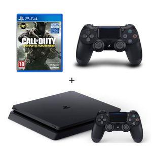 CONSOLE PS4 NOUVEAUTÉ Nouvelle PS4 Slim Noire 500 Go + 2e Manette DualSh